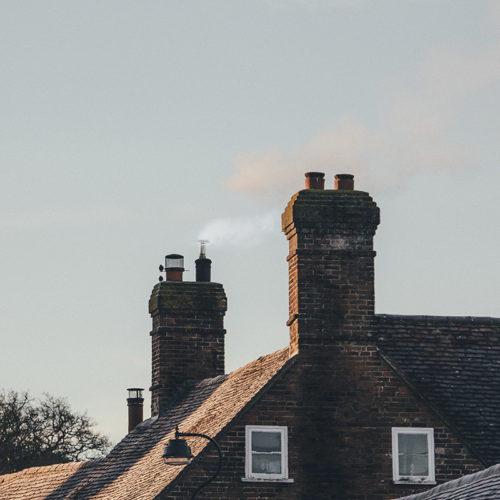 piec na pellet - prawidłowy wygląd dymu z komina