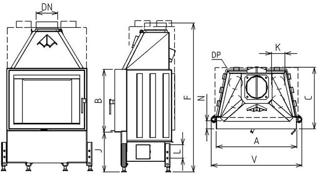 budowa wkładu kominkowego